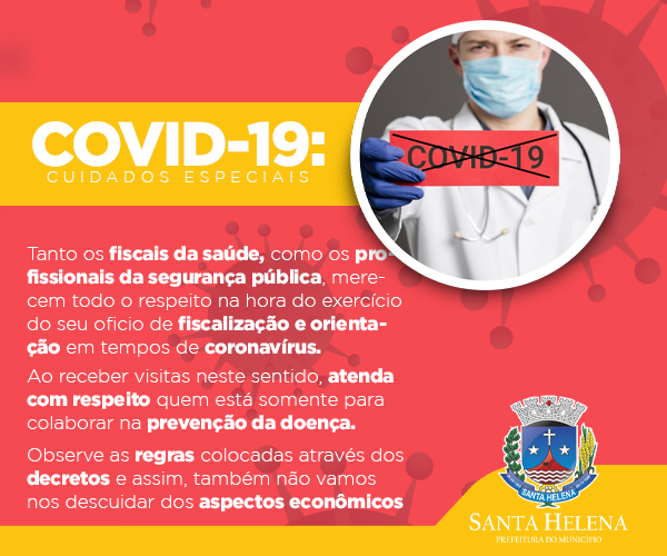PREFEITURA SANTA HELENA CUIDADOS ESPECIAIS COVID 19
