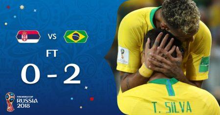 Brasil bate a Sérvia, avança em 1º e pega o México nas oitavas