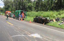 Motorista de veículo com placas de Medianeira morre em grave acidente na BR 277
