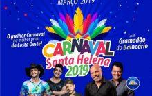 Carnaval no Balneário Santa Helena terá show nacional