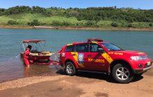 Bombeiros fazem buscas por criança desaparecida no Rio Paraná