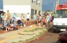 Itaipulândia: Motociclista fica gravemente ferido em acidente de trânsito