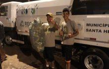Agentes Ambientais recolhem mais de 600 quilos de latas durante festividades de Carnaval em Santa Helena