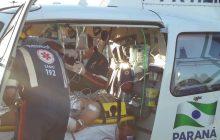 Homem esfaqueado em Santa Helena é transferido de helicóptero para Cascavel; Autor já foi identificado.