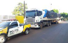 Vídeo: PRE de Santa Helena apreende caminhão com grande quantidade de cigarros contrabandeados