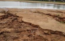 Volume de chuvas danifica orla do Balneário Santa Helena