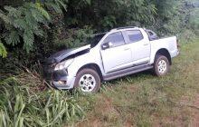 PRE de Santa Helena atende acidente envolvendo caminhão e camionete