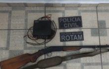 Agro Cafeeira: Arma e rádio comunicador são apreendidos em ação da ROTAM e Polícia Civil