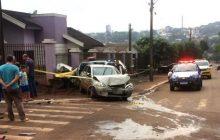 Vídeo mostra acidente que envolveu viatura da PM de Missal em São Miguel do Iguaçu