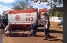 Vídeo: Brasília bate em moto e foge do local em Santa Helena