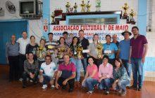 Conhecido casal vencedor do Campeonato de Bocha entre Casais de Esquina Céu Azul