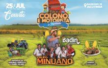 Badin - O colono e Grupo Minuano serão atrações da festa do Colono e Motorista em Itaipulândia