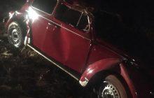 Capotamento deixa pessoa ferida em Santa Helena