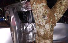 Acidente deixa duas pessoas feridas no Balneário Santa Helena