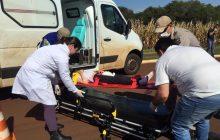 Criança atropelada em Santa Helena segue internada em hospital de Cascavel