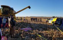 Adolescente morre atropelado pelo pai com trator em colheita