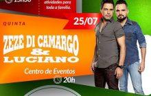Programação do Dia 25 de Julho está mantida em Missal com show de Zezé di Camargo e Luciano
