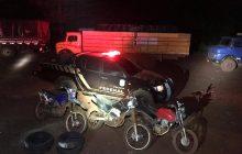 PF e BPfron prendem 02 contrabandistas e 04 caminhões com cigarros paraguaios