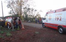Colisão entre motocicletas deixa duas pessoas feridas em distrito de Santa Helena
