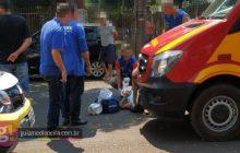 Medianeira: Motociclista fica gravemente ferido em acidente no centro