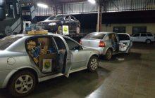 BPFron apreende mais três veículos do comboio do Astra, um deles ficou pendurado na ponte em Guaíra