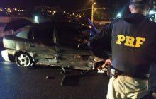 Vídeo: Em São Miguel após 20 km de fuga e acidente, PRF apreende 29 pistolas que iriam para o RJ