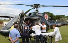 Guairense fica gravemente ferido após churrasqueira acesa com álcool explodir