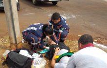 Acidente envolve carro e moto no Anel Viário em Itaipulândia