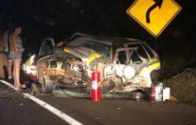 Viatura da Polícia Militar se envolve em grave acidente na BR-277