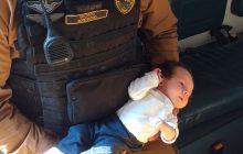 Policiais militares salvam bebê que engasgou com leite materno