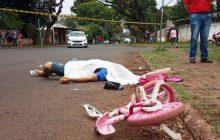 Pai é morto a tiros e filha de três anos fica ferida de raspão na região