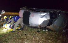 Bora capota e motorista fica em estado grave