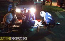 Atropelamento é registrado na rua Ângelo Cattani em Santa Helena