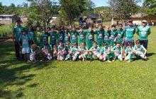 Escolinha de futebol do Água Verde fez jogo amistoso com a escolinha do Chapecoense de SC