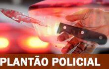 Filha é presa pela Polícia após partir para cima de sua mãe com uma faca