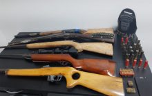 Dez armas de fogo foram apreendidas em Santa Helena e área do 19º Batalhão da PM