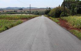 Município de Itaipulândia conta com mais uma estrada recuperada com pavimentação asfáltica