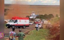 Capotamento deixa quatro feridos na PR 488 em Vera Cruz do Oeste