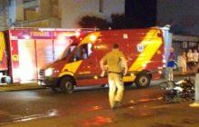 Medianeira: Acidente entre carro e moto deixa duas pessoas feridas