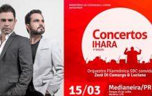 Show com Zezé Di Camargo & Luciano e Orquestra acontece em Medianeira neste domingo (15)