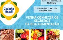 Qualifica Santa Helena oferece curso gratuito de alimentação saudável e aproveitamento de alimentos