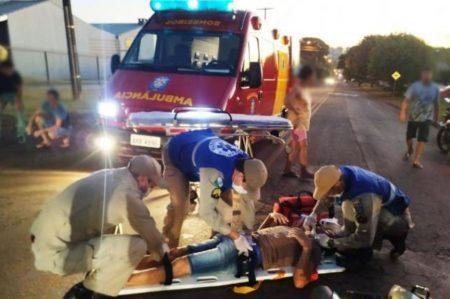 Homem se fere em acidente de trânsito em São Miguel do Iguaçu