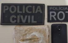 Matelândia: Drogas são apreendidas e homem é preso em ação conjunta da Pol. Civil e PM