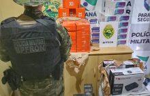 BPFRON apreende produtos oriundos do Paraguai após abordagem a ônibus em Céu Azul