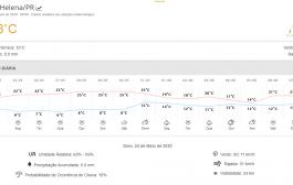 Com tempo nublado e sensação de 10ºC, máxima não passa dos 19ºC em Santa Helena