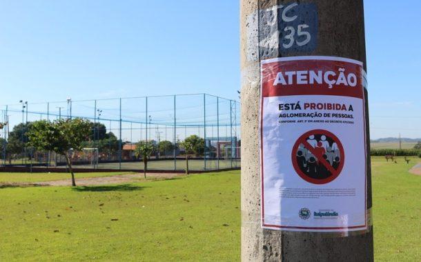 Município de Itaipulândia isola áreas de lazer para a segurança dos moradores