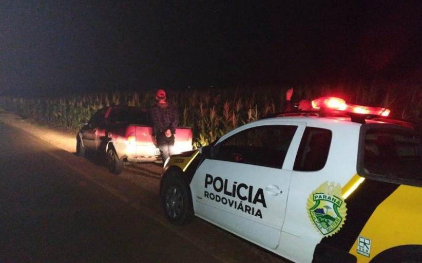 Fiat Strada furtada em Arapongas é recuperada pela PRE em Ouro Verde do Oeste