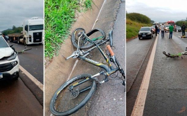 Identificado ciclista morto em atropelamento na Br-277 em Matelândia