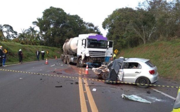 Identificados jovens de Medianeira que morreram em grave acidente na BR 277