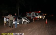 Acidente envolve veículo da Polícia Ambiental, Carreta e um Cruze em Santa Helena